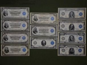 Банкноты, боны, купюры США ДОЛЛАРЫ 1914-18 КОПИЯ