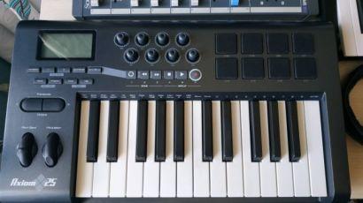 m-audio axiom 25 midi клавиатура (миди контроллер)