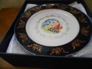 Тарелки набор фарфор кобальт Чехия Тхун Thun 1794 Тун Карловы Вары
