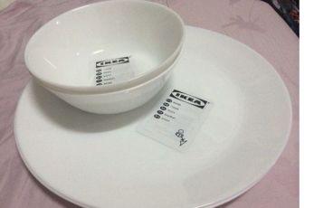 Тарелки от ИКЕА серии Офтаст, новые, белые