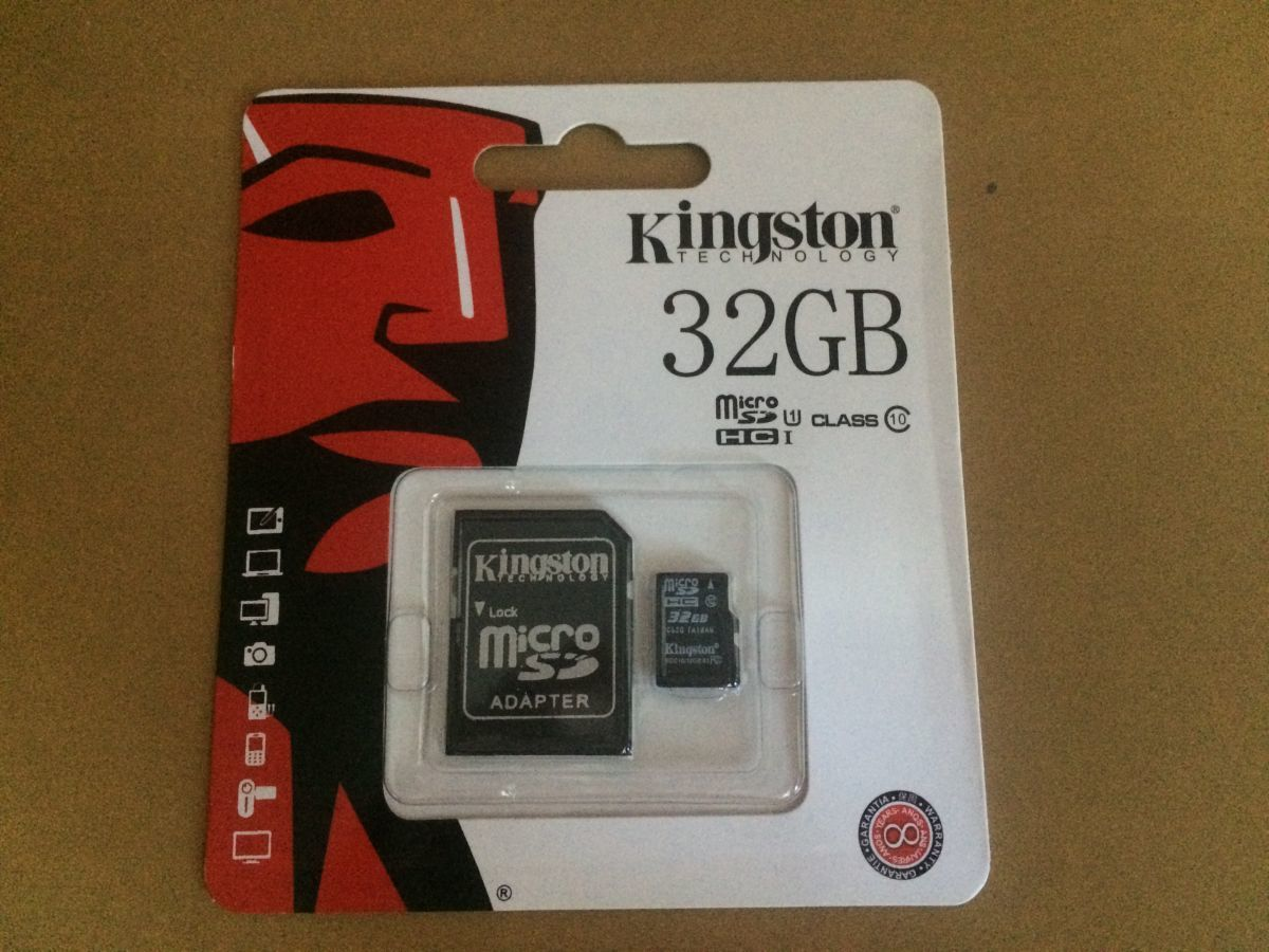 Карта памяти Micro Sd Kingston 32 Gb с адаптером