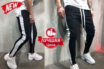 ХИТ 2018! Мужские спортивные штаны джоггеры брюки Gucci с лампасами