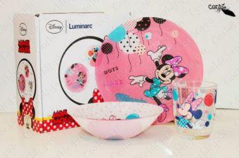 Набор посуды Luminarc Disney N5279 Детская посуда Minnie 3в1 Минни