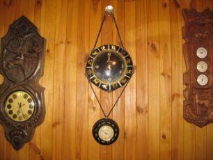 немецкий настенный комплект со знаками Зодиака: часы и барометр