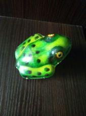 Советская игрушка. Механическая лягушка