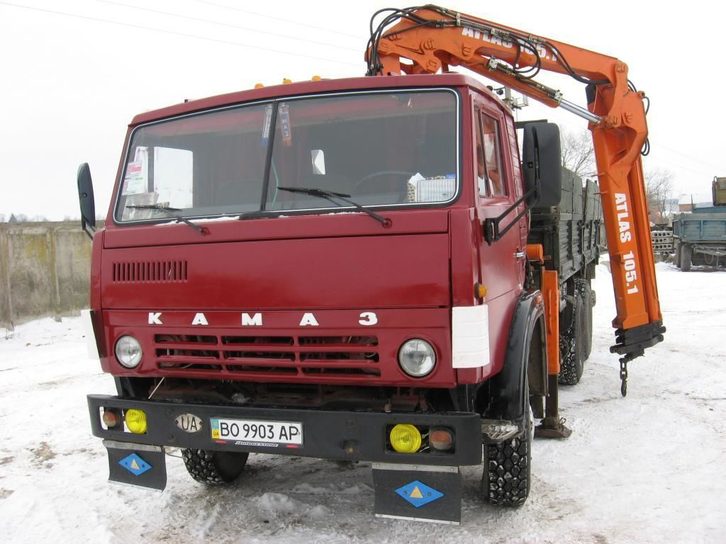 Оренда Самосвал с Манипулятором Atlas КАМАЗ 13 тонн