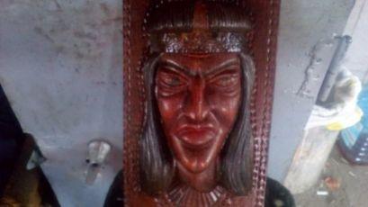 Маска деревянная декор настенная
