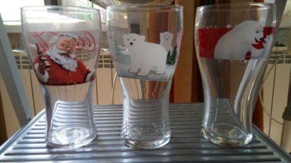 Стеклянные новогодние стаканы Кока-кола (Сoca-Cola) 0,33 мл