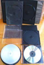 для диска сд, двд коробка пустая, с подложкой, есть на 2, есть чёрные