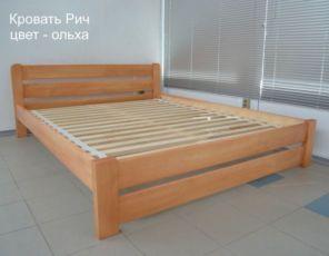 Кровать Деревянная Рич 160х190 Двуспальная Кровать из Массива Сосны