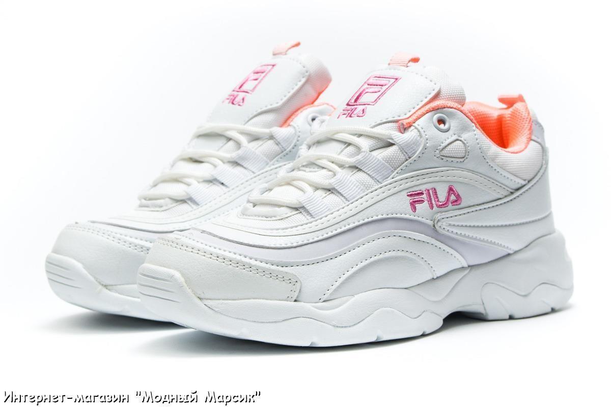 8da763905 Стильные и нежные, белые, женские кроссовки Fila, р. 36 - 41 ...