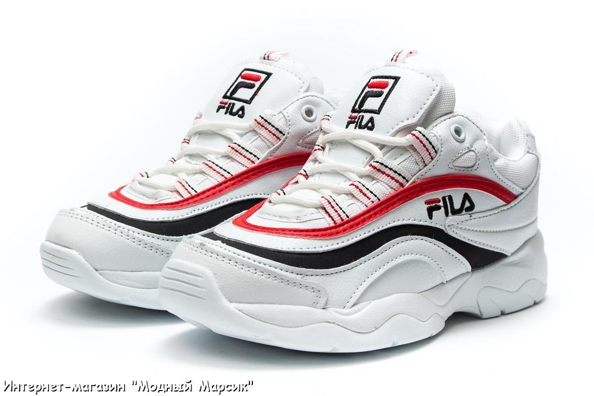 78d614f14 Модные белые женские кроссовки для девушек Fila, р. 36 - 41, AF13933 ...
