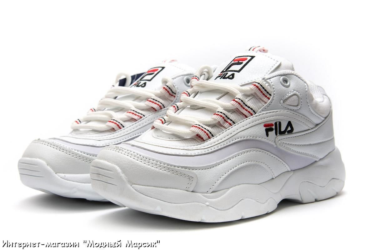 dd9c8243e Красивые белые женские кроссовки для девушек Fila, р. 36 - 41, AF13931