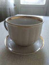Чашка с блюдцем, Полонский фарфоровый завод.