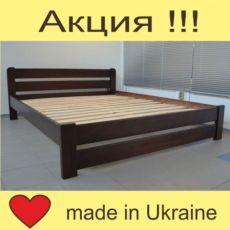 Кровать из натурального дерева массив сосны. Двуспальная кровать