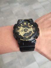 Мужские наручные часы Casio G-Shock AAA GA 110 Black-Gold Реплика!