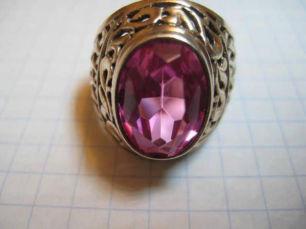 Винтажный серебряный перстень кольцо 875 пробы с рубином корундом.СССР