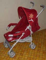Детская коляска трость Geoby D208 прогулочная с дождевиком, корзиной