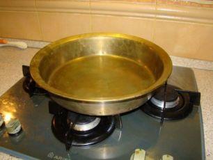 Таз латунный для варки варенья, миска з латуні, миска латунная.
