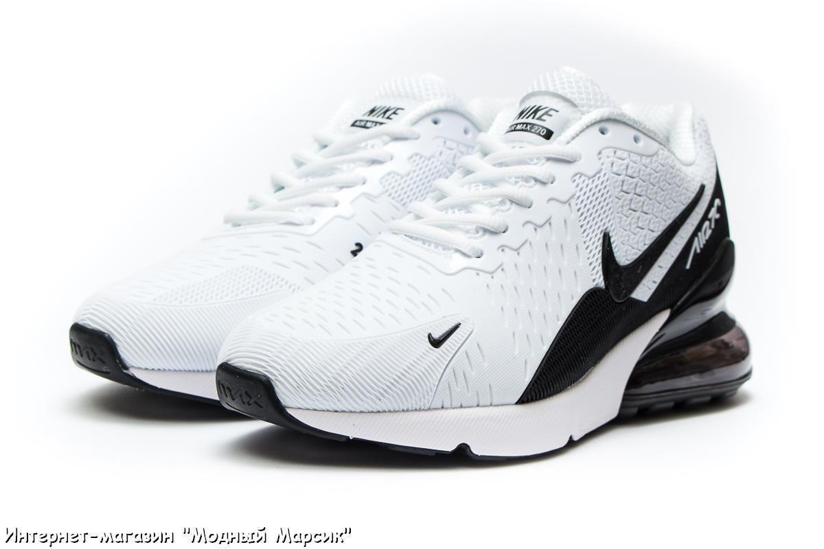 1461cef2 Модные мужские кроссовки Nike Air 270 Найк Аир, белые, р 41-46 AF13976