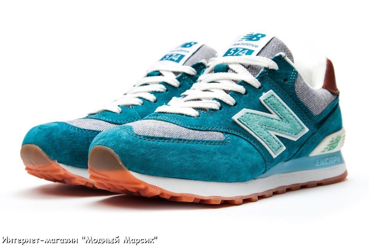1f8829e558baae Женские легкие бирюзовые кроссовки New Balance 574, р. 37-41, AF13143