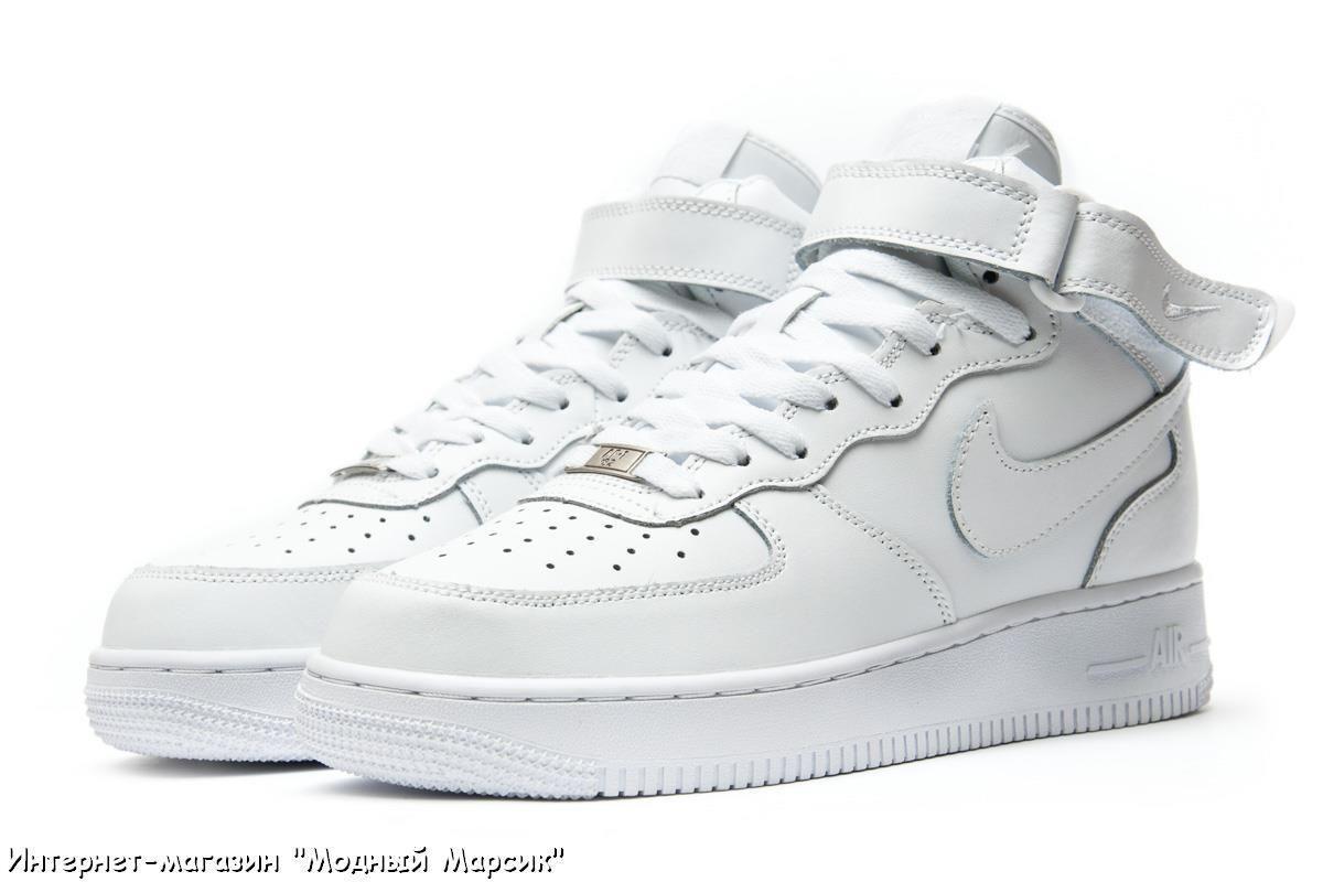 461e303e Мужские кроссовки Nike Air Force Найк Аир Форс белые, р 41-45, AF12361
