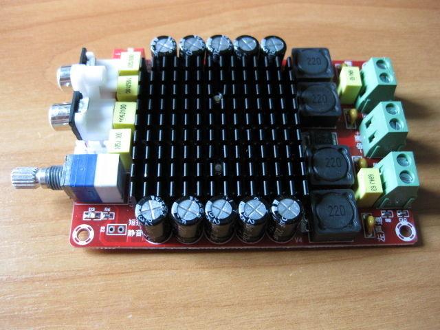Усилитель звука 2х100 2 по 100вт DC 12в Автозвук, установка.