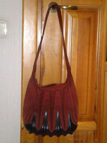 a7c6f735d Фирменная сумка ECCO из натуральной замши,красная кожаная сумка: 500 ...