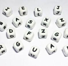 Силиконовые бусины с буквами, из силикона, именной держатель пустышки