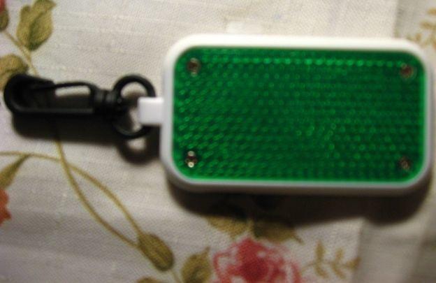 брелок светоотражатель зелёный