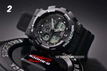 АКЦИЯ!!! Часы Casio G-Shock GA-100-E3R2W Копия ( мужские ) Касио Шок