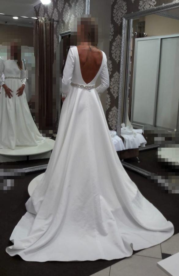 78ac84be9ffb7b Свадебное платье с фатой и поясом. элегантное, стильное, италия.: 12 ...
