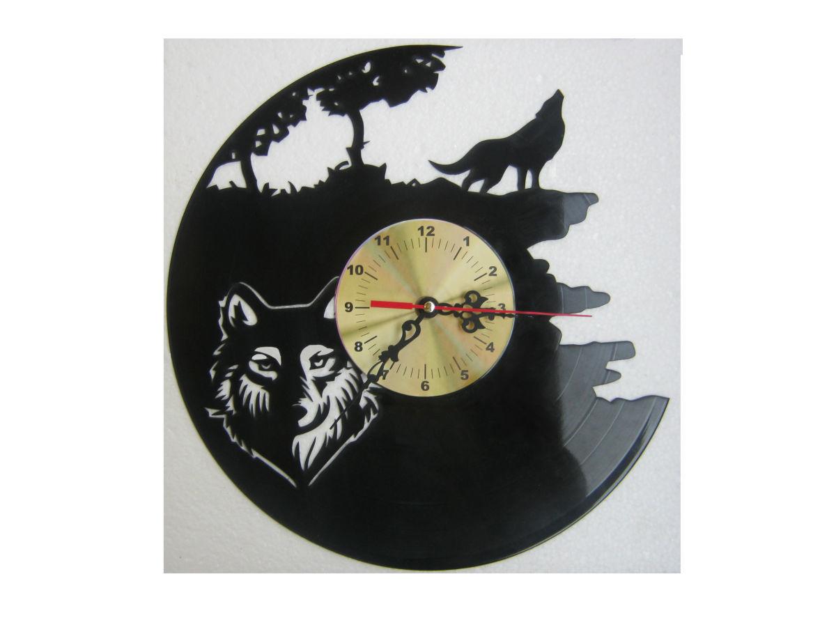 часы настенные из виниловой пластинки