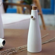 Керамическая бутылка для масла и уксуса, емкость с дозатором, 250-300
