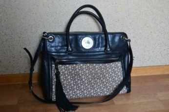 Dkny donna karan оригинал сумка кожа