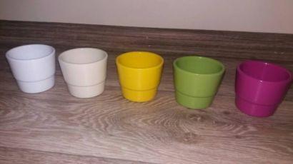 Керамічні кашпо, горщики для кактусів чи фіалок