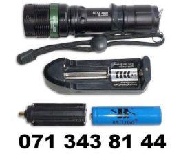 Тактический фонарик НОВЫЙ Police BL-8455 с линзой