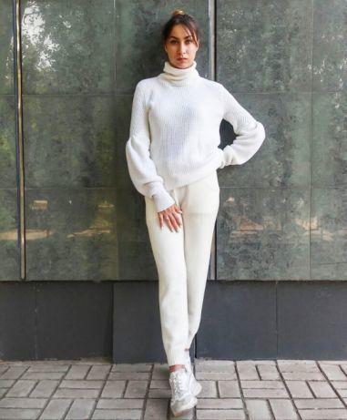 вязаный спортивный костюм из мериносовой шерсти с кашемиром 3 500