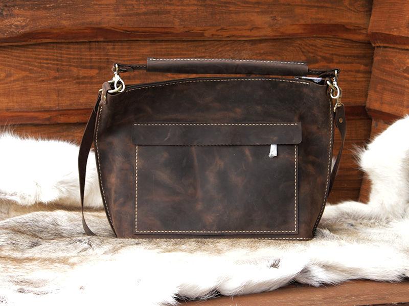 71a0455ecd7f Коричневая кожаная женская сумка ручной работы: 5 300 грн. - Сумки ...