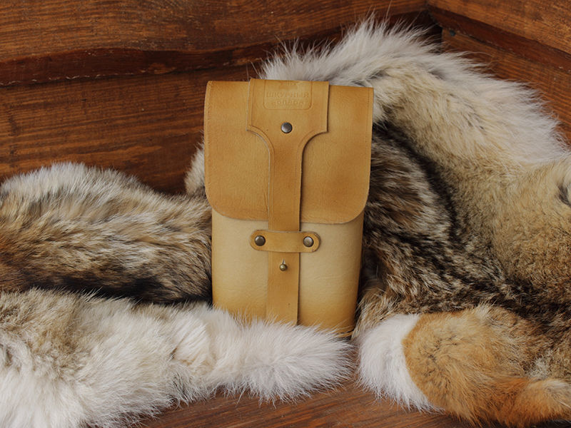 Мужская кожаная сумка на пояс