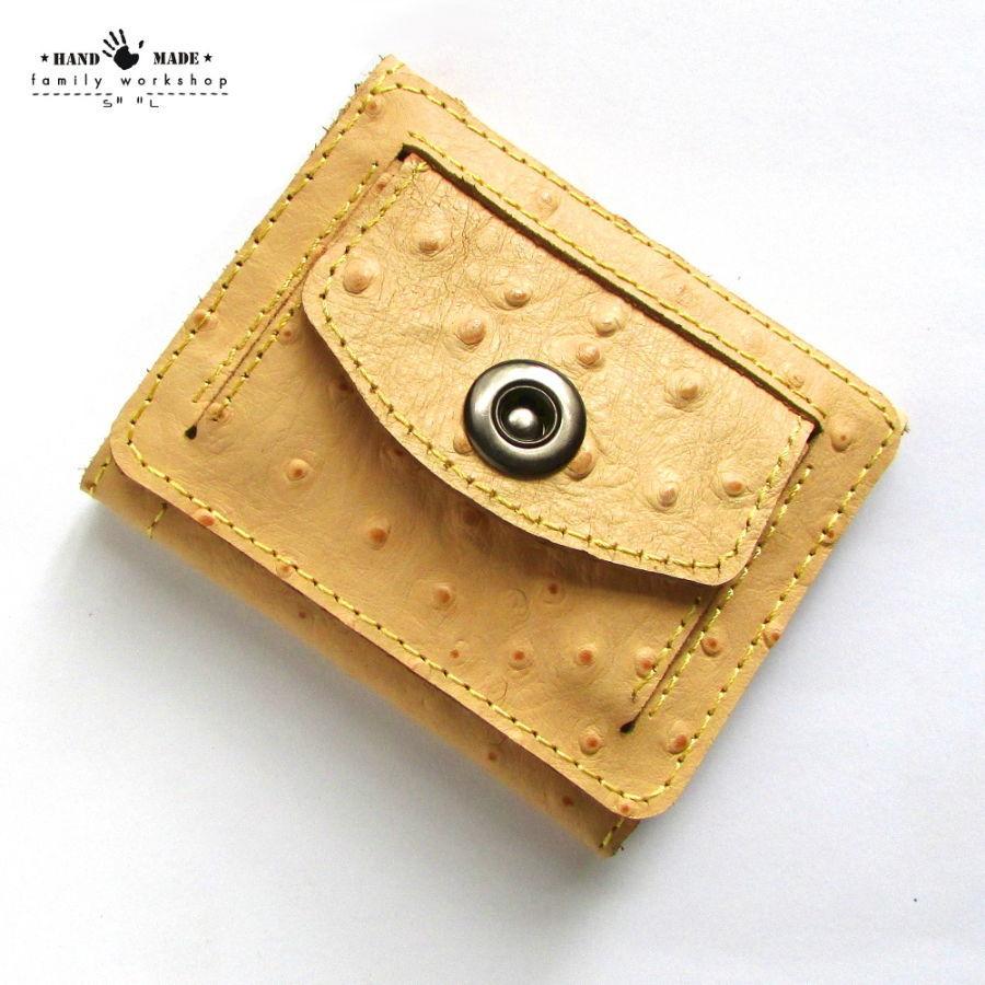 c28bacdca543 Маленький компактный кошелек из натуральной кожи ручной работы Пудра ...