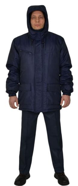 Куртка зимняя с капюшоном модельная мужская рабочая