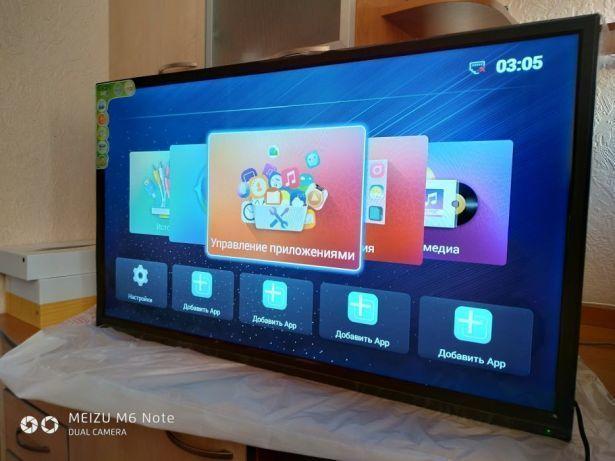 Телевизор 40 дюйма, Android,1:4GB WiFi, DVB-T2/DVB-C