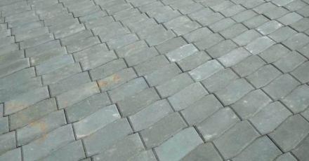 Тротуарная плитка серая волна