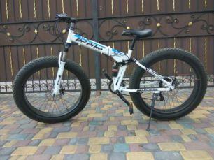 Фэтбайк - велосипед двухподвес со складной рамой, фетбайк 26х4