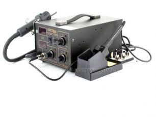 Паяльная станция 2/1 фен+паяльник KRAFT&DELE 852D+100-500°