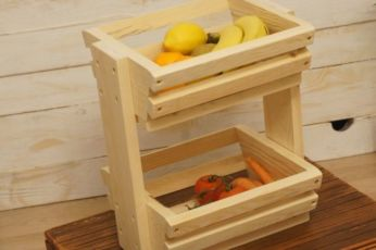 Этажерка для овощей и фруктов, полка для овощей, деревянные изделия