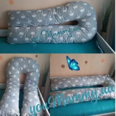 Подушка обнимашка, подушка для беременных. В комплекте наволочка