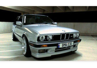 BMW E30 ls губа, спойлер тюнинг БМВ Е30