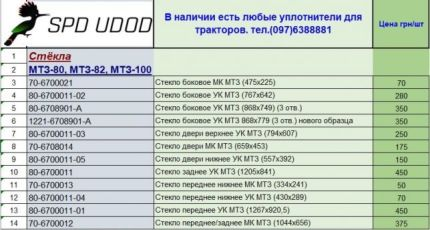 Стекла для тракторов т16, МТЗ -80,-100, ЮМЗ-6, т25, Т-150, ХТЗ